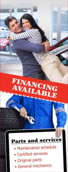 Financing available on most of our used cars